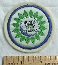 Vintage Honda Civic Golf Classic Tournament Souvenir Round Felt Patch