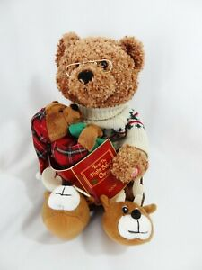 Avon Talking Animated Bear 'Twas The Night Before Christmas Story 2006 SEE VIDEO