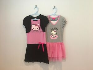 2 Hello Kitty Girl Dress by Sanrio Size 6, Pre-owned