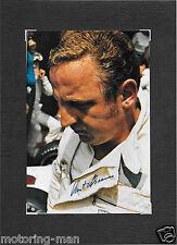 KURT AHRENS AUTOGRAPHE SIGNÉE PHOTOGRAPHIE RARE PORSCHE 917 PILOTE