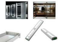 LED Motion Sensor Cabinet Wardrobe Cupboard Light Battery Powered PIR Lamp UK