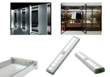 10-LED Sensore Di Movimento Armadio guardaroba armadietto luce PIR Alimentato a Batteria Lampada UK