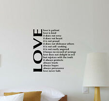 Love Wall Decal Inspirational Quote Vinyl Sticker Decor Bedroom Poster Mural 349
