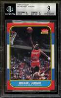 Michael Jordan Rookie Card 1986-87 Fleer #57 Authentic BGS 9 (9 9 9.5 8.5)