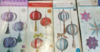 Weihnachtskugeln zum selber machen basteln Weihnachtssterne versch. Arts Neu OVP