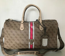NEW! GUESS BROWN OVERNIGHT CARRY ON TRAVEL WEEKENDER LUGGAGE TOTE BAG $148 SALE