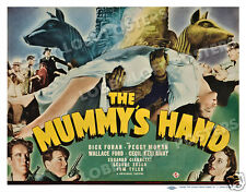 THE MUMMY'S HAND LOBBY TITLE CARD POSTER 1940 DICK FORAN PEGGY MORAN TOM TYLER