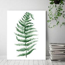 Nordic зеленое растение листьев живопись плакат настенное искусство картина гостиная домашний декор