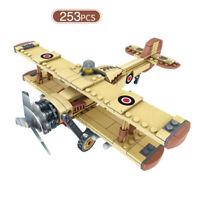 253pcs Militär Bomber Modell Bausteine mit Soldat Figuren Flugzeuge Spielzeug