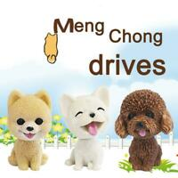 Car Style Cute Dog Doll Shaking Head Nodding Dog For Car Bedroom Ornament Z1P0