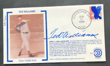 Ted Williams Signed First Day Cover Cachet. JSA