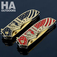 HA Outdoor Survival Fishing Camping Hunting Tactical Folding Blade Knife