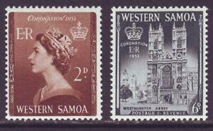Samoa 1953 SC 213-214 MH Set Coronation