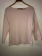 Ladies Oui Thin Knit Jumper Top Pink Size 14