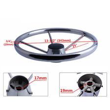 Brand Marine 13-1/2'' Boat Steering Wheel Stainless Steel Mirror Polish 5 Spoke