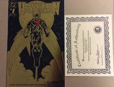 HAWKMAN #1-GOLD FOIL COVER- SIGNED AUTO ARTIST MAGYAR-DYNAMIC FORCES -AUTOGRAPH