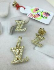 Gold Authentic 18k gold earrings and pendant,,
