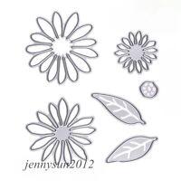 6 piece Chrysanthemum Daisy Flower Cutting Die Set Embossing Cards die cutter