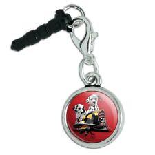 Dalmatian Dogs Firefighter Fire Helmet Mobile Cell Phone Headphone Jack Charm