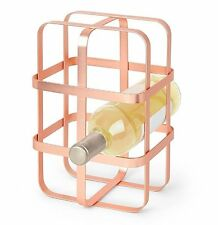 Umbra PULSE Wine Rack COPPER Holds Up To 6 Bottles METAL WIRE
