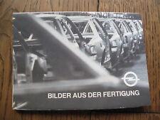 Ansichtskarten Mappe Opel Bilder aus der Fertigung