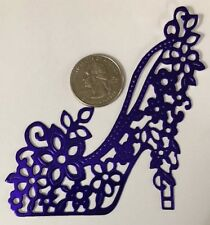 VICTORIAN SHOE Die-Cuts(3pc)Stripper Heel•Dancing•Glitter•Metallic•Prismatic•