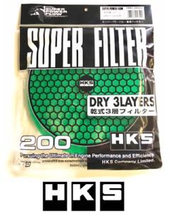 HKS Air Filter Super Power Flow - 200mm Replacement Element Mushroom GREEN