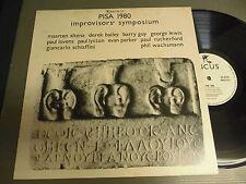 Improvisor's symposium PISA 1980 UK INCUS LP, derek bailey barry guy evan parker