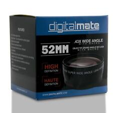 DigitalMate DM5243X 0.43X Super Wide Angle Lens with Macro for 52mm (Black)