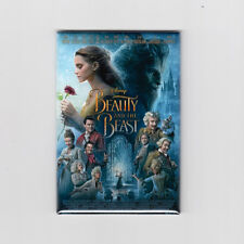 """BEAUTY AND THE BEAST (2017) -  2"""" X 3"""" MOVIE POSTER MAGNET (walt disney print)"""