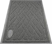 Pawkin Cat Litter Mat, Patented Design with Litter Lock Mesh, Durable, Easy to C