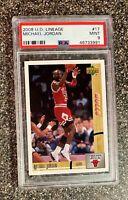 Michael Jordan 2008-09 Upper Deck UD Lineage #17 RARE PSA 9 MINT POP 6