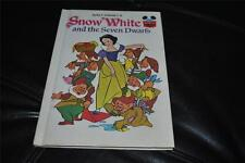 Snow White and the Seven Dwarfs Walt Disney Book Hardcover 1973 Vintage Rare