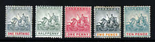 BARBADOS Queen Victoria 1892-03 Badge of the Colony Group SG 105 to SG 113 MINT