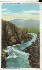 pathfinder canon between between caper and hawlins wyoming postcard 40s era