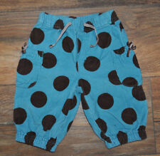 Boden Baby Girl Cords Corduroy Trousers Pants 3-6 Months Blue Spotted Cotton