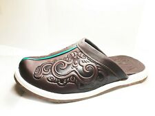 Mongolian Handmade Leather Slippers Unisex