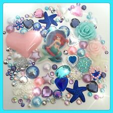 Disney The Little Mermaid Theme Cabochon Gem & pearl flatbacks, decoden craft #2