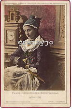 1858 Hand Colored Cabinet Photograph by Franz Hanfstangl Munchen #40 Costume