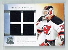 09-10 UD The Cup Foundations  Martin Brodeur  /25  Quad Jerseys  HOF