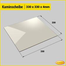 Kaminglas Kaminscheibe Ofenglas 330x330 X 4mm Scheibe Temprix Hitzebeständig