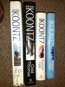 Dean Koontz HC Book Lot of 4 Odd Thomas, forever Odd, Brother Odd, Odd Hours