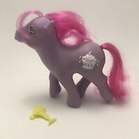 Vtg My Little Pony G1 Sherbet MLP Sundae Best 1987 Purple w Hair Barrette