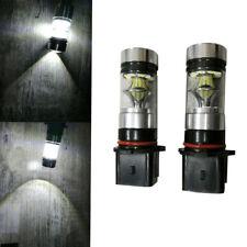 2pcs PMMA Lens P13W LED HID Bulb 6500K 100W 1000LM Turn Signal Lamp Fog lights