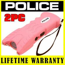 Stun Gun Police 916 Black - 17bv Rechargeable LED Light Safety Pin Case 10pc