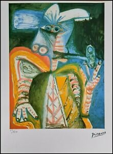 PABLO PICASSO * 28 x 38 cm * signed lithograph * limited # 60/250