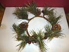Yankee Candle Pinecone Crackle Collection Jar Candle Ring / 'Holder'  Large NEW