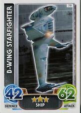 Star Wars Force Attax : Force Awakens Set 1 #79 B-Wing Starfighter