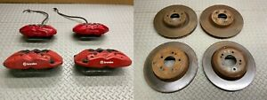 09-16 HYUNDAI GENESIS COUPE BREMBO CALIPER SET CALIPERS WITH ROTORS COMPLETE