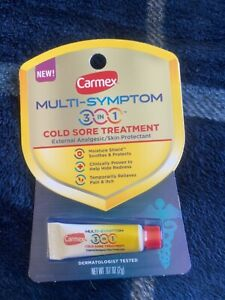 Carmex Multi-Symptons 3 In 1 Cold Sore Treatment External Analgesic Skin New